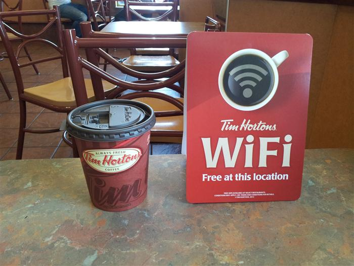 Tim Hortons Is Now Serving Up Free Wifi